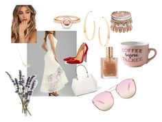 """""""Summer in the city"""" by anne-lise-knoph on Polyvore featuring DKNY, Lana, Christian Louboutin, Marie Mas, Kendra Scott, Quay and beautifulhalo"""