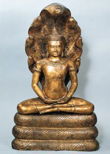 Buddha on Naga, 12th c. Angkor