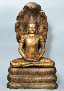Buddha on Naga, 12th c. Angkor
