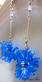 DIY earrings with recycled plastic bottle