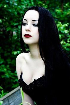 Love many styles, goth included. & her skin is just amazing.