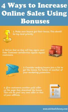 4 Ways to Increase Online Sales Using Bonuses