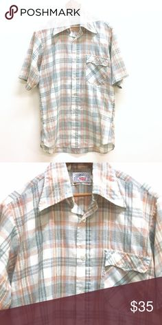 "Vintage Levi's plaid western wear button up shirt Super soft and worn in but still great condition. No size tag. 21"" pit to pit and 27"" long. Please use measurements Levi's Shirts Casual Button Down Shirts"
