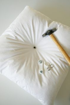 change the buttons on the pillow... DIY