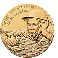 Choctaw Nation Tribe Code Talkers Bronze Medal