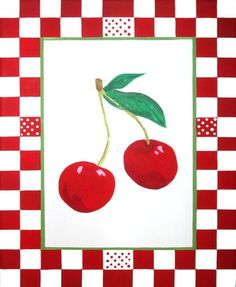 Love this painting I got to hang in my retro red and turquoise kitchen.