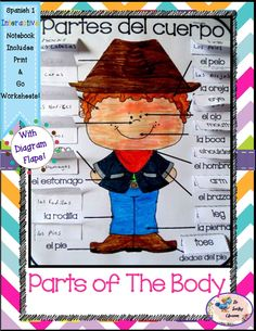 Spanish 1 Partes del Cuerpo - Parts of the Body - Interactive Notebooks   1. Cootie Catcher Activity: Includes pictorial instructions, video links, & games.  2. Diagram Flap Activity: Includes anchor charts, games, and extra credit challenges.  (Each activity also has student instructions, 2 levels of difficulty -a page with answers and a page without, print & go pages, and color/black & white pages.)$