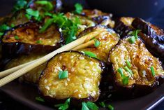 This recipe for Chinese eggplant with garlic sauce is one of my favorite ways of cooking eggplant! Give it a try and enjoy it with a side of rice or rice noodles. Eggplant Recipes Asian, Eggplant Dishes, Asian Recipes, Filipino Recipes, Yummy Recipes, Keto Recipes, Healthy Recipes, Chinese Vegetables
