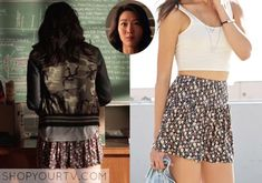 Kira Yukimura (Arden Cho) wears this floral skort in this week's episode of Teen Wolf. It is the Forever 21 Ditzy Floral Skort in [...]