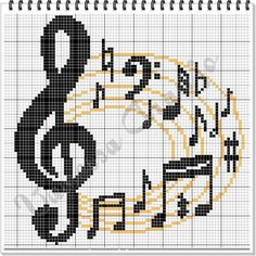 Music cross-stitch