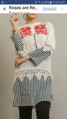 Simple Kurti Designs, Kurta Designs, High Collar Blouse, Afghan Dresses, Kurti Designs Party Wear, Curvy Dress, Desi Clothes, Dresses Kids Girl, Pakistani Outfits
