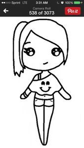 Here'S a template do a chibi kawaii girl drawings, bff drawings, cute girl drawing Kawaii Girl Drawings, Bff Drawings, Cute Cartoon Drawings, Cartoon Girl Drawing, Super Easy Drawings, Easy Disney Drawings, Easy Chibi Drawings, Desenhos League Of Legends, Unicornios Wallpaper