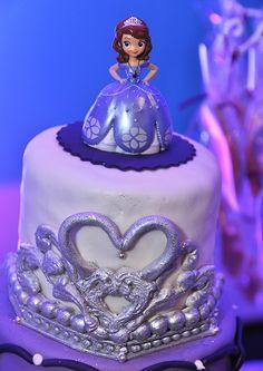 Cake at a Sofia the First Princess Party #princess #sofiathefirst