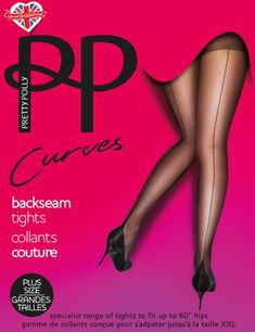 d66c31ec6c6 Extra Off Coupon So Cheap One Size Plus Pretty Polly Curves Backseam Detail  Tights Black PN