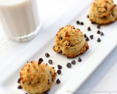 Use almonds instead and maybe some almond extract - don't forget the chocolate chips (easy to miss the way the recipe is printed)