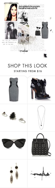 """Addicted to song lyrics"" by amber-daylight ❤ liked on Polyvore featuring Morgan, Viktor & Rolf, Topshop, Linda Farrow, Alexander McQueen, Vanessa Mooney and Dauphine"