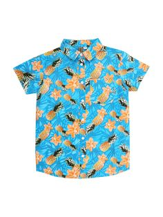 This all over print Hawaiian shirt is perfect for his summer wardrobe. With…