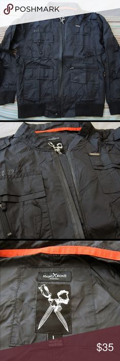 Marc Ecko Cut & Sew Black Military Bomber Jacket Lightly worn, in great condition Marc Ecko Cut & Sew Jackets & Coats Bomber & Varsity