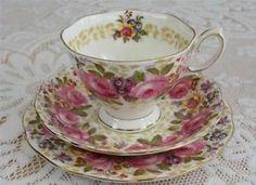 VINTAGE ROYAL ALBERT SERENA BONE CHINA TEA CUP TRIO BEAUTIFUL | eBay