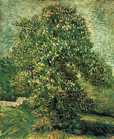 Chestnut Tree in Blossom - Vincent van Gogh, 1887