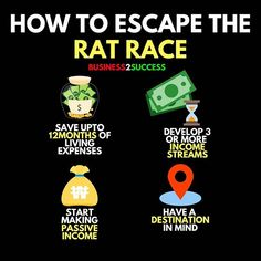 Rat Race – Finance is important Financial Quotes, Financial Literacy, Financial Tips, Formation Management, Rat Race, Business Money, Online Business, Startup, Business Motivation