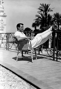 Cary Grant in the French Riviera.
