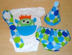 Boys Cake Smash Outfit for 1st birthday Hat by SmashBabyBoutique