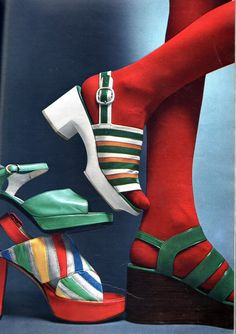 The Femme (by april-mo) Seventies Fashion, 60s And 70s Fashion, Vintage Fashion, Magazine Mode, Cool Kids Clothes, Evolution Of Fashion, Sock Shoes, 70s Shoes, Vogue