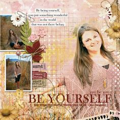 Digital scrapbooking kit, Positive Thoughts Collection Biggie, by Ginny Whitcomb at ScrapGirls.com