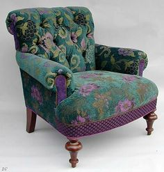 "*Middlebury Chair: ""Bohemian"" Upholstered Chair Created by Mary Lynn O'Shea"