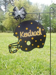 Helmet yard sign/door hanger via Etsy