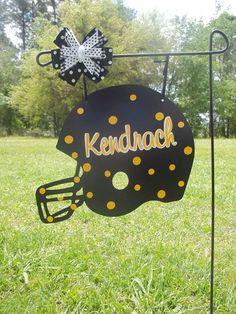 Helmet yard sign/door hanger via Etsy