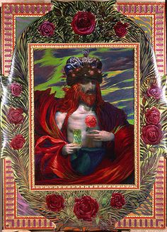 Ernst Fuchs Gallery --------THE ROSE KING, 1978-84 Mixed media on fiberboard, 56x77cm
