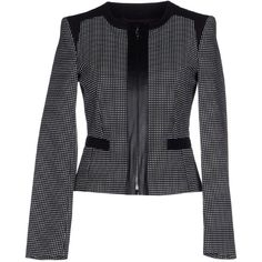 Pennyblack Blazer (13.790 RUB) ❤ liked on Polyvore featuring outerwear, jackets, blazers, black, black jacket, zipper jacket, pennyblack, black zip jacket and zip jacket