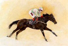 katchit horse racing art print by lisa miller