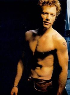 jon bon jovi shirtless - am pretty sure he shaves his chest cuz he used to be pretty hairy!..either way...I'll take him!!!