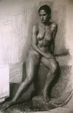 "Dan Thompson, Charcoal 15 x 22"", 2001"