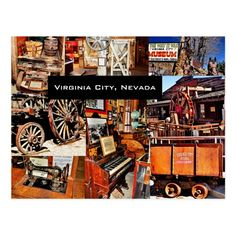 VIRGINIA CITY, NEVADA POSTCARD