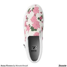 Asian Flowers Printed Shoes