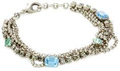 """Sorrelli """"Salt Water"""" Multi-Strand Crystal Antique Bracelet"""