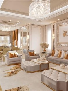 Interior Design Videos, Luxury Homes Interior, Luxury Interior Design, Home Interior, Interior Design Living Room, Living Room Designs, Classic Living Room, Elegant Living Room, Big Living Rooms