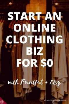 Learn how to create a profitable online clothing biz for FREE with Etsy and Printful!! Step by step guide inside. BONUS!! Enter to win an item from my shop!
