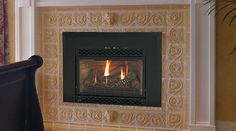 Majestic Natural Gas Amber Fireplace Insert