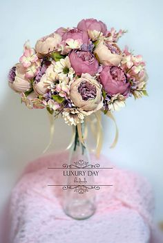 wedding bouquet - the smell of peonies Peonies, Wedding Bouquets, Floral Wreath, Wreaths, Luxury, Day, Handmade, Decor, Decoration