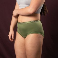 Oriana – Period Underwear for Every Moment (Olive) Linen Tshirts, Menstrual Cycle, Fancy Pants, New Product, Lighter, Period, Underwear, Feels, Bring It On