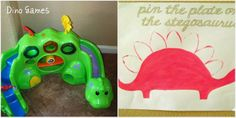 Pin the Plate on the Stegosaurus