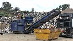 Recycling in action - one of our Permanent Overband Magnets mounted on an Edge Innovate Slayer XL Shredder to recover ferrous metals from household refuse Bunting, Metals, Magnets, Innovation, Recycling, Household, Around The Worlds, Action, The Unit