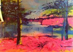 North 3 - Acrylics and photocopy transfer - Toronto 2014