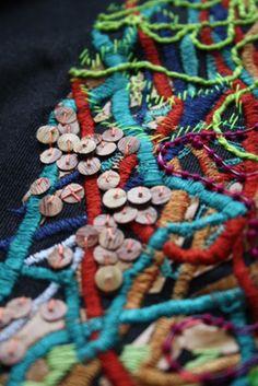 Laura-Jane Atkinson  | heavy embellished embroidery