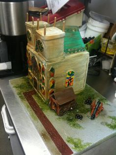 Cathedral cake, based on a video game